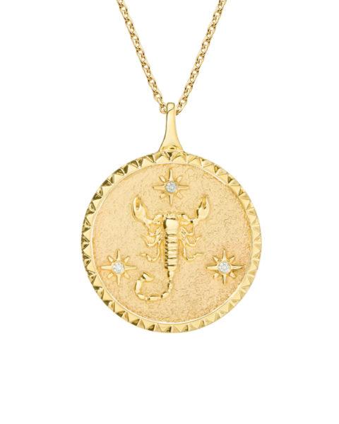 zodiac necklace scorpio