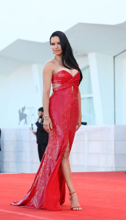 Adriana Lima Venice red carpet 2021