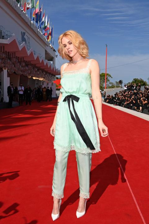Kristen Stewart Venice red carpet 2021