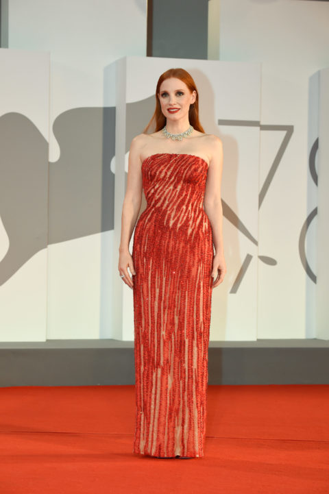 Jessica Chastain Venice Red Carpet 2021