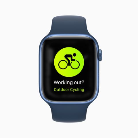 apple watch series 7 working out