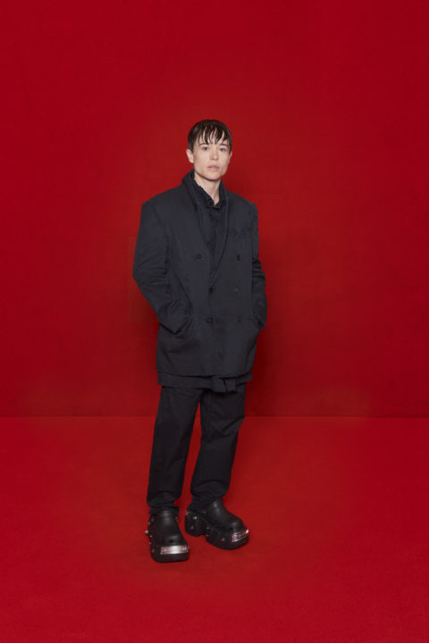 Balenciaga and The Simpsons Red Carpet:Elliot Page