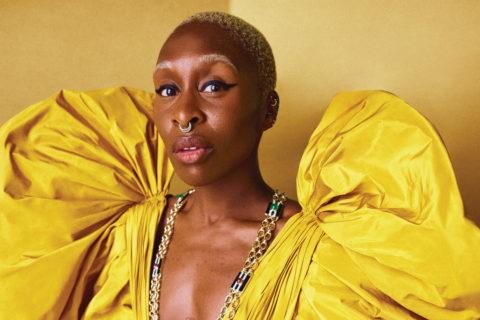 Cynthia Erivo yellow gown