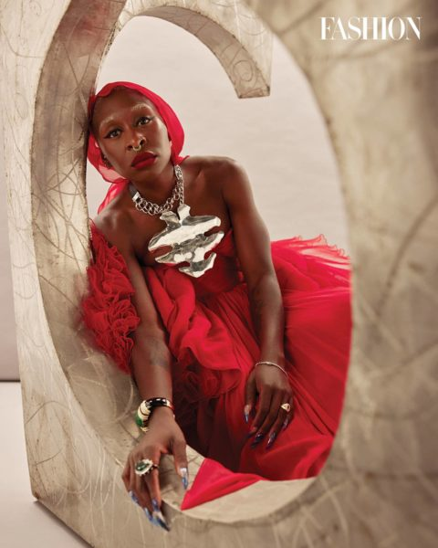 Cynthia Erivo Red Dress