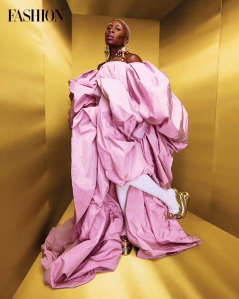 Cynthia Erivo pink dress