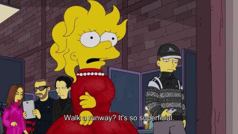 Lisa Simpson Balenciaga x The Simpsons show